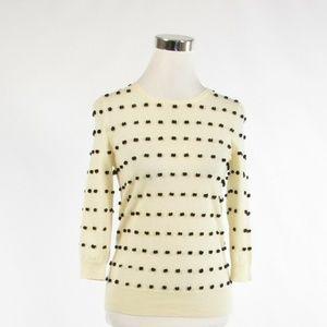J.Crew ivory cotton crewneck sweater XS
